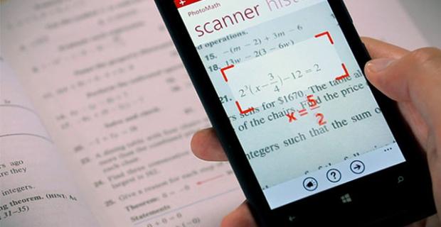 """""""PhotoMath""""颤抖吧,学霸!"""